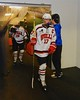 Baldwinsville Bees James Pelcher (17) heads to the ice before playing the Ithaca Little Red in a NYSPHSAA Ice Hockey Championship Regional Playoff game at The Rink in Ithaca, New York on Saturday, March 7, 2015.  Baldwinsville won 2-1..