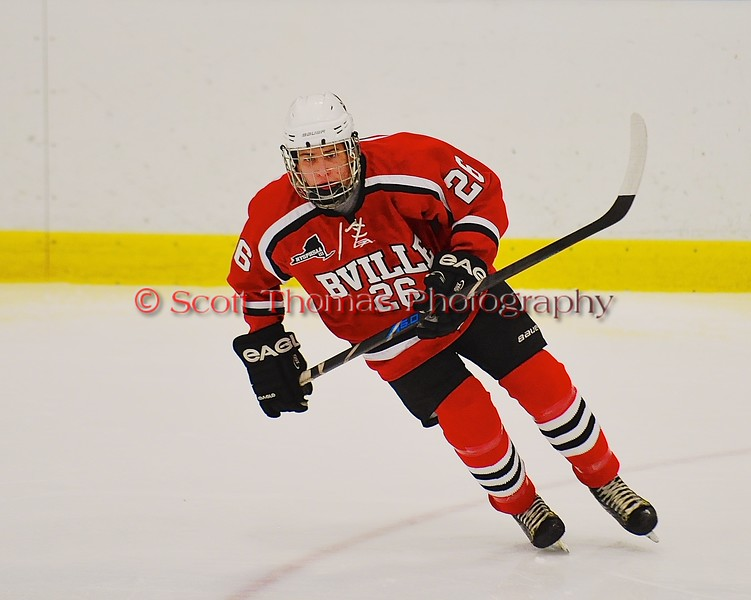Baldwinsville Bees Kyle Lindsay (26) on the ice against the West Genesee Wildcats at Shove Park in Camillus, New York on Friday, January 9, 2015. Game ended in a 3-3 tie.