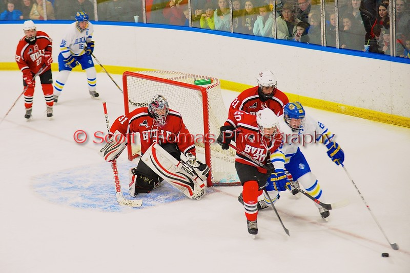 Baldwinsville Bees visited the West Genesee Wildcats at Shove Park in Camillus, New York on Friday, January 9, 2015. Game ended in a 3-3 tie.