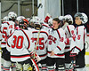 Baldwinsville Bees played the McQuaid Black Knights in NYSPHSAA Division I Boys Hockey Championships at the Utica Memorial Auditorium in Utica, New York on Sunday, March 15, 2015.  McQuaid won 6-2.