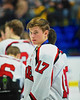 Baldwinsville Bees James Pelcher (17) after playing the McQuaid Black Knights in NYSPHSAA Division I Boys Hockey Championships at the Utica Memorial Auditorium in Utica, New York on Sunday, March 15, 2015.  McQuaid won 6-2.