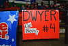 Baldwinsville Bees sign for Ben Dwyer (4) at the Utica Memorial Auditorium in Utica, New York on Saturday, March 14, 2015.