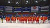 Williamsville East Flames after the NYSPHSAA Division II Boys Hockey Championship game at the Utica Memorial Auditorium n Utica, New York on Sunday, March 15, 2015.  Skaneateles won 5-2.