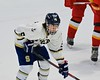 Skaneateles Lakers Trey Wirth (5) before a face-off with Williamsville East Flames in NYSPHSAA Division II Boys Hockey Championships at the Utica Memorial Auditorium n Utica, New York on Sunday, March 15, 2015.  Skaneateles won 5-2.