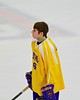 CBA-JD Brothers Kyle Barker (6) during the playing of the National Anthem at the Utica Memorial Auditorium in Utica, New York on Saturday, March 14, 2015.