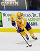 CBA-JD Brothers Kyle Barker (6) looking to make a play against the Skaneateles Lakers in NYSPHSAA Division II Boys Hockey Championships at the Utica Memorial Auditorium in Utica, New York on Saturday, March 14, 2015.  Skaneateles won 4-3.