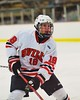 Baldwinsville Bees Joe Glamos (18) on the ice against the Liverpool Warriors at the Greater Baldwinsville Ice Arena in Baldwinsville, New York on Tuesday December 2, 2014.  Baldwinsville won 4-0.