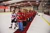 Baldwinsville Bees players with their teachers on Teacher Appreciation Night at the Greater Baldwinsville Ice Arena in Baldwinsville, New York on Tuesday, January 20, 2015.