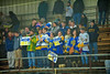 West Genesee Wildcats students in the stands at the Greater Baldwinsville Ice Arena in a Section III Division I Boys Hockey Playoff game at Baldwinsville, New York on Tuesday February 24, 2015.  Baldwinsville won 5-0.