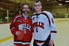 Baldwinsville Bees Isaiah Pompo (5) with his teacher, Mr. Scuderi, on Teacher Appreciation Night at the Lysander Ice Arena in Baldwinsville, New York on Monday February 8, 2016.