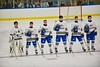 West Genesee Wildcats players before playing the Baldwinsville Bees at Shove Park in Camillus, New York on Friday, December 11, 2015.