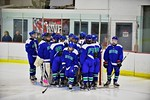 Cicero/North Syracuse Northstars huddle up before playing the Baldwinsville Bees at the Lysander Ice Arena in Baldwinsville, New York on Monday February 8, 2016. Cicero/North Syracuse won 2- ...