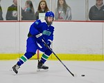 Cicero/North Syracuse Northstars Parker Lane (25) with the puck against the Baldwinsville Bees at the Lysander Ice Arena in Baldwinsville, New York on Monday February 8, 2016. Cicero/North S ...
