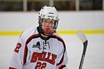 Baldwinsville Bees Matt Monaco (22) on the ice against the Fayetteville-Manlius Hornets at the Lysander Ice Arena in a Section III Division I Boys Hockey Playoff game at Baldwinsville, New Y ...