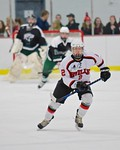 Baldwinsville Bees Tanner McCaffrey (2) on the ice against the Fayetteville-Manlius Hornets at the Lysander Ice Arena in a Section III Division I Boys Hockey Playoff game at Baldwinsville, N ...