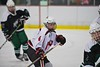 Baldwinsville Bees JP Clappa (4) on the ice against the Fayetteville-Manlius Hornets at the Lysander Ice Arena in a Section III Division I Boys Hockey Playoff game at Baldwinsville, New York on Thursday February 18, 2016.  Baldwinsville won 5-0.