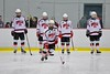 Baldwinsville Bees Matt Metcalf (27) being introduced before playing the Liverpool Warriors at the Lysander Ice Arena in Baldwinsville, New York on Friday January 22, 2016.