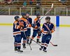 Liverpool Warriors starting line up being introduced before playing the Baldwinsville Bees at the Lysander Ice Arena in Baldwinsville, New York on Friday January 22, 2016.