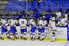 West Genesee Wildcats Head Coach Frank Colabufo talks to his team during a time out against the Baldwinsville Bees in the Section III, Division I Championship game in Boys Ice Hockey at the Utica Auditorium on Sunday, February 28, 2016. West Genesee won 1-0.