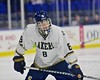 Skaneateles Lakers Matt Benson (8) before a face-off against the New Hartford Spartans for the Section III, Division II Championship at the Utica Auditorium on Sunday, February 28, 2016. Skaneateles won 4-0.
