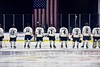 Skaneateles Lakers during the National Anthem before the Section III, Division II Championship game against the New Hartford Spartans at the Utica Auditorium on Sunday, February 28, 2016.