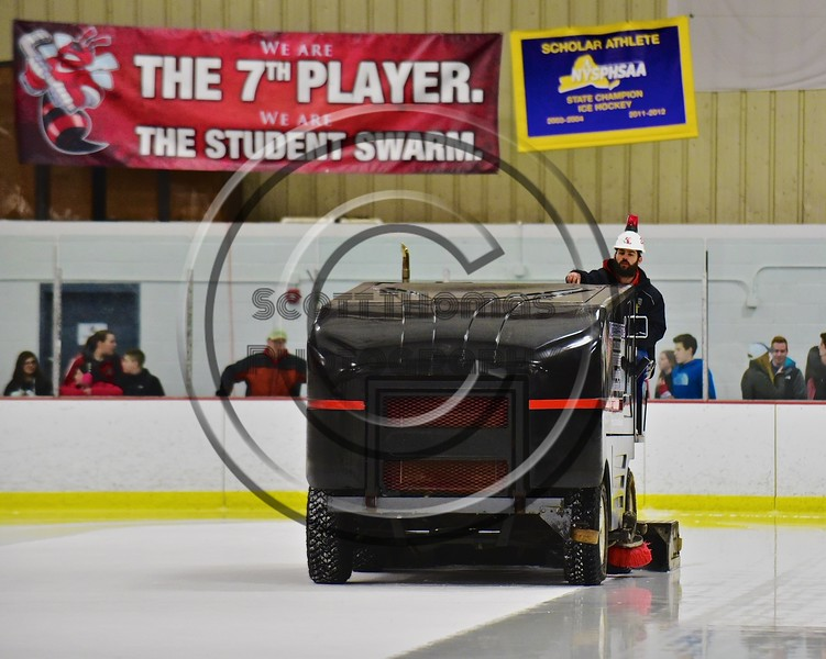 Baldwinsville Bees hosts the West Genesee Wildcats at the Lysander Ice Arena in Baldwinsville, New York on Tuesday February 2, 2016.
