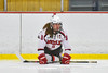 Baldwinsville Bees Jacob Norton (9) warming up before playing the Liverpool Warriors in NYSPHSAA Section III Boys Ice Hockey action at the Lysander Ice Arena in Baldwinsville, New York on Friday, December 16, 2016.