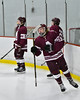 Auburn Maroons Brendan Williams (19) being introduced before playing the Baldwinsville Bees in a NYSPHSAA Section III Boys Ice Hockey game at the Lysander Ice Arena in Baldwinsville, New York on Tuesday, December 27, 2016.