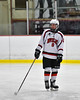 Baldwinsville Bees Parker Schroeder (8) being introduced before playing the Auburn Maroons in a NYSPHSAA Section III Boys Ice Hockey game at the Lysander Ice Arena in Baldwinsville, New York on Tuesday, December 27, 2016.