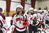 Baldwinsville Bees Jacob Norton (9) shakes hands with Auburn Maroons after a NYSPHSAA Section III Boys Ice Hockey game at the Lysander Ice Arena in Baldwinsville, New York on Tuesday, December 27, 2016. Baldwinsville won 4-3.