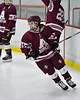 Auburn Maroons Hunter Tubbert (24) being introduced before playing the Baldwinsville Bees in a NYSPHSAA Section III Boys Ice Hockey game at the Lysander Ice Arena in Baldwinsville, New York on Tuesday, December 27, 2016.