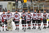Baldwinsville Bees hosted the Auburn Maroons in NYSPHSAA Section III Boys Ice Hockey action at the Lysander Ice Arena in Baldwinsville, New York on Tuesday, December 27, 2016.