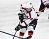 Baldwinsville Bees Parker Schroeder (8) playing against the Auburn Maroons in NYSPHSAA Section III Boys Ice Hockey action at the Lysander Ice Arena in Baldwinsville, New York on Tuesday, December 27, 2016. Baldwinsville won 4-3.