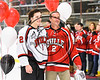 Baldwinsville Bees Tanner McCaffrey (2) honors a teacher on Teacher Appreciation Night at the Lysander Ice Arena in Baldwinsville, New York on Friday, January 6, 2017.