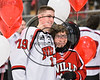 Baldwinsville Bees Alex Schmidt (19) honors a teacher on Teacher Appreciation Night at the Lysander Ice Arena in Baldwinsville, New York on Friday, January 6, 2017.