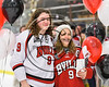 Baldwinsville Bees Jacob Norton (9) honors a teacher on Teacher Appreciation Night at the Lysander Ice Arena in Baldwinsville, New York on Friday, January 6, 2017.
