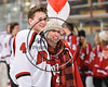 Baldwinsville Bees Quinn Sweeney (4) honors a teacher on Teacher Appreciation Night at the Lysander Ice Arena in Baldwinsville, New York on Friday, January 6, 2017.