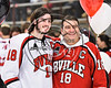 Baldwinsville Bees Jake DuMond (18) honors a teacher on Teacher Appreciation Night at the Lysander Ice Arena in Baldwinsville, New York on Friday, January 6, 2017.