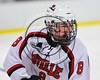 Baldwinsville Bees Parker Schroeder (8) on the ice against the Fayetteville-Manlius Hornets in NYSPHSAA Section III Boys Ice Hockey action at the Lysander Ice Arena in Baldwinsville, New York on Friday, January 6, 2017. Baldwinsville won 6-0.