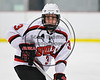 Baldwinsville Bees Ryan Muscatello (3) playing against the Fayetteville-Manlius Hornets in NYSPHSAA Section III Boys Ice Hockey action at the Lysander Ice Arena in Baldwinsville, New York on Friday, January 6, 2017. Baldwinsville won 6-0.