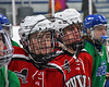 Baldwinsville Bees and the Cicero-North Syracuse Northstars learn about the Maureen's Hope Foundation   at the Cicero Twin Rinks in Cicero, New York on Wednesday, January 18, 2017.