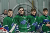 Cicero-North Syracuse Northstars players during the National Anthem before playing the Baldwinsville Bees  at the Cicero Twin Rinks in Cicero, New York on Wednesday, January 18, 2017.