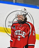 Baldwinsville Bees Tanner McCaffrey (2) before playing the West Genesee Wildcats in NYSPHSAA Section III Boys Ice Hockey action at Shove Park in Camillus, New York on Wednesday, February 1, 2017.