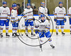 West Genesee Wildcats Daniel Colabufo (15) being introduced before playing the Baldwinsville Bees in NYSPHSAA Section III Boys Ice Hockey action at Shove Park in Camillus, New York on Wednesday, February 1, 2017.