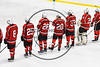 Baldwinsville Bees before playing the West Genesee Wildcats in NYSPHSAA Section III Boys Ice Hockey action at Shove Park in Camillus, New York on Wednesday, February 1, 2017.