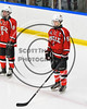 Baldwinsville Bees Josh Racha (6) before playing the West Genesee Wildcats in NYSPHSAA Section III Boys Ice Hockey action at Shove Park in Camillus, New York on Wednesday, February 1, 2017.