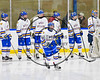 West Genesee Wildcats Patrick McDonald (18) being introduced before playing the Baldwinsville Bees in NYSPHSAA Section III Boys Ice Hockey action at Shove Park in Camillus, New York on Wednesday, February 1, 2017.