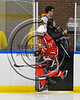 Baldwinsville Bees Nick Glamos (14) takes the ice against the West Genesee Wildcats in NYSPHSAA Section III Boys Ice Hockey action at Shove Park in Camillus, New York on Wednesday, February 1, 2017.