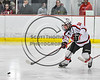 Baldwinsville Bees Connor Carhart (12) passes the puck against the Mohawk Valley Raiders in NYSPHSAA Section III Boys Ice Hockey action at the Lysander Ice Arena in Baldwinsville, New York on Tuesday, February 7, 2017. Baldwinsville won 1-0.