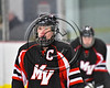 Mohawk Valley Raiders Henry Froass (6) before a face-off against the Baldwinsville Bees in NYSPHSAA Section III Boys Ice Hockey action at the Lysander Ice Arena in Baldwinsville, New York on Tuesday, February 7, 2017. Baldwinsville won 1-0.